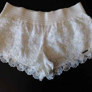 Abercrombie and Fitch lace shorts white